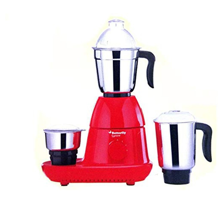 BUTTERFLY MIXER GRINDER CYCLONE RED 3 JAR