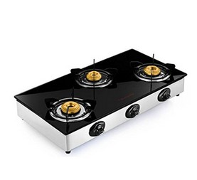 BUTTERFLY GAS STOVE GLASS TOP JET 3B