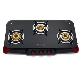 BUTTERFLY GAS STOVE GLASS TOP SIGNATURE 3B